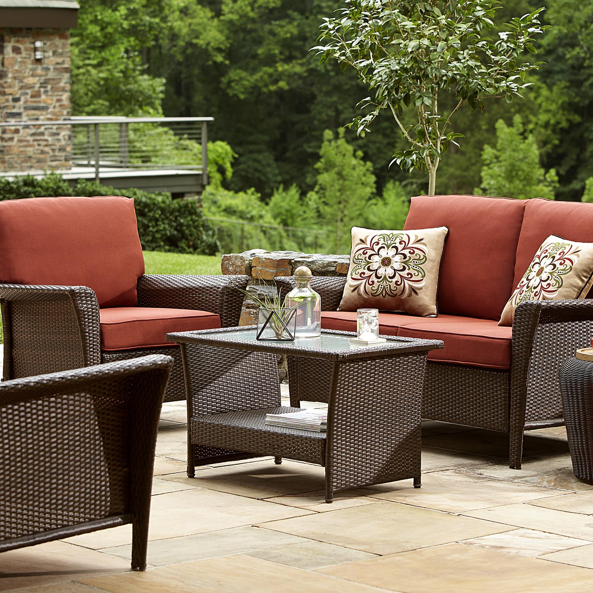 Ty Pennington Style Parkside Deep Seating Set - Rust ...