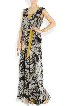 Amanda Wakeley Printed Silk Georgette Dress
