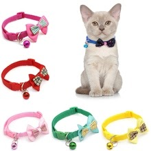 1pc Candy Color Adjustable Bow Tie Bell Bowknot Necktie Puppy