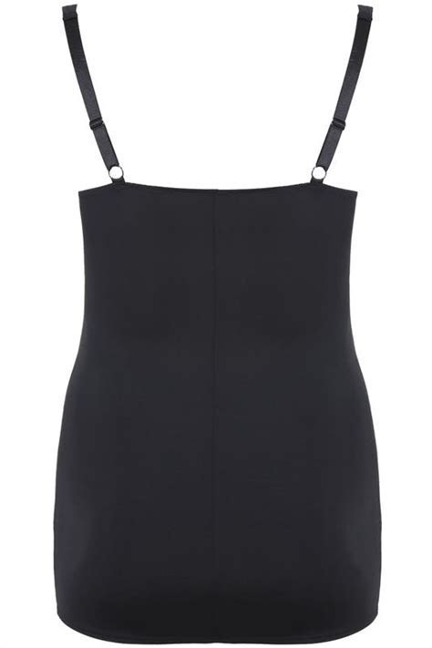 Black Underbra Smoothing Slip Dress With Firm Control plus