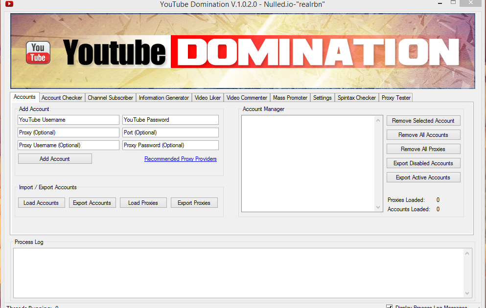 YouTubeDomination -1 0 2 0 Sub / Dislike / Comment / View