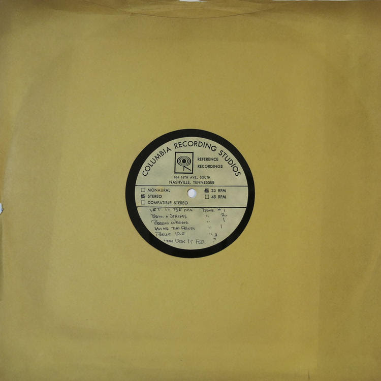 An acetate recording from Bob Dylan's 'Self Portrait' album