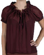 Love Stitch Chiffon Ruffle Blouse