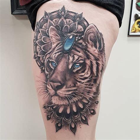 black gold tattoo  tiger tattoo  sasha roussel