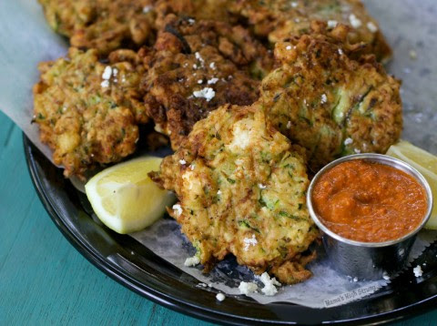 Zucchini and Feta Fritters Mama's High Strung