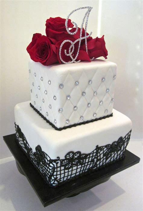 Black Lace and Bling Birthday Cake www.milkandhoneycakery