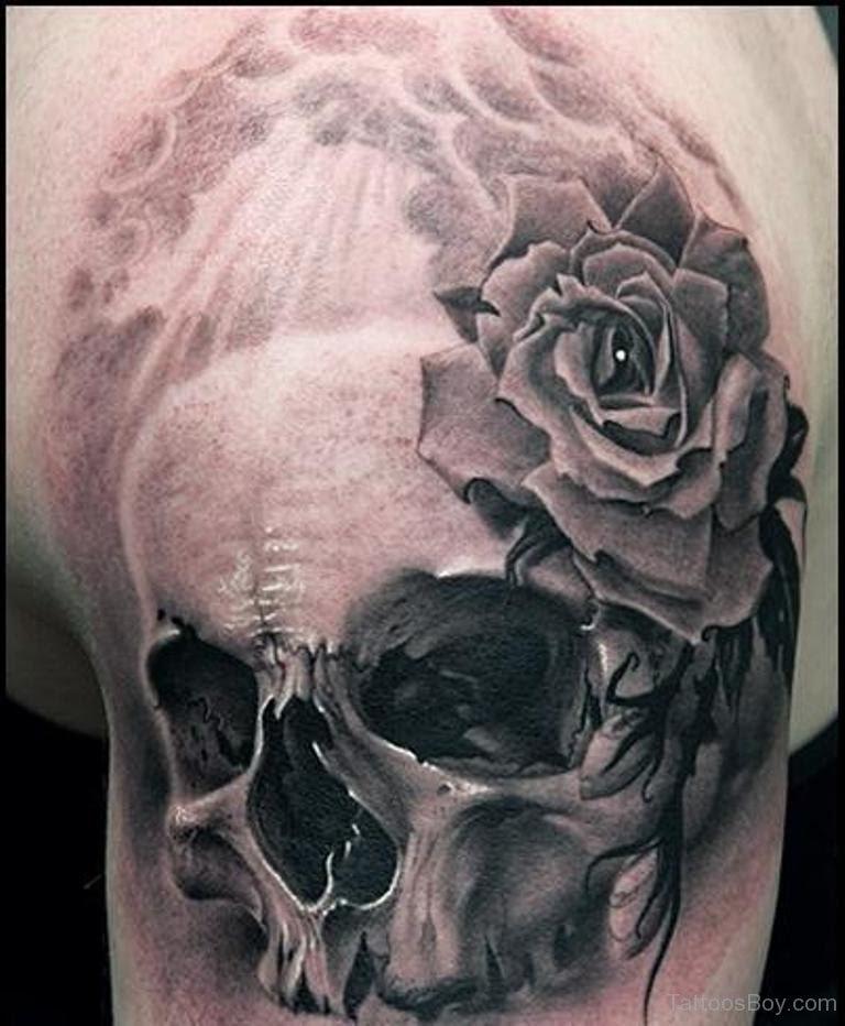 Rose Skull Tattoo Tattoo Designs Tattoo Pictures