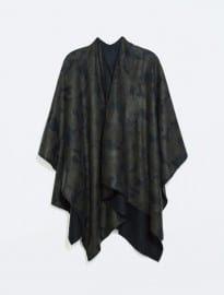 Zara Camouflage Poncho