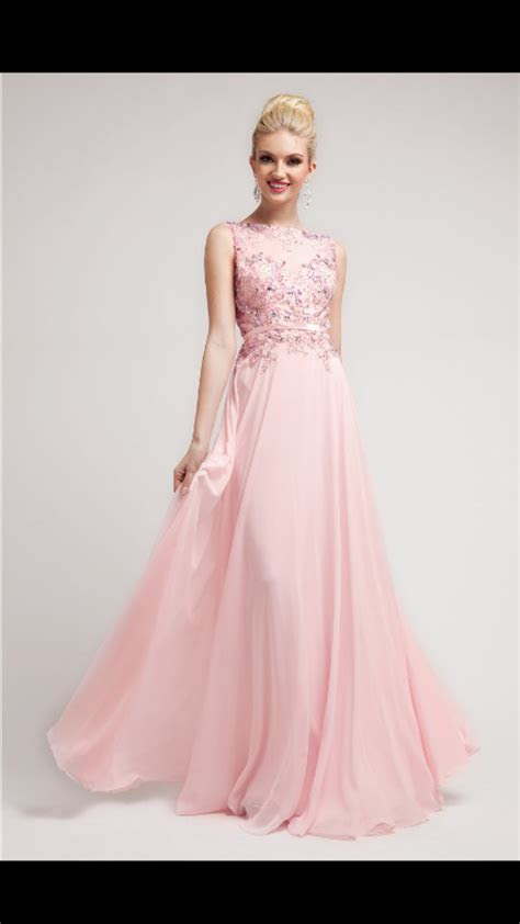 prom dresses baby pink beaded lace chiffon gown