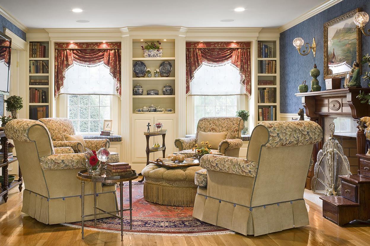 Traditional English Living Room Gallery - Boston Design ...