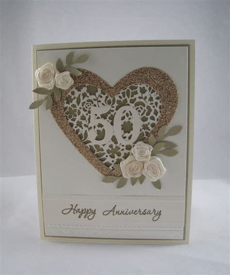 Golden Anniversary Card   StampinU