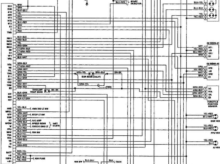 1990 Toyota Pickup Wiring Diagram Schematic
