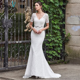 Dressv v neck beading lace mermaid wedding dress cheap