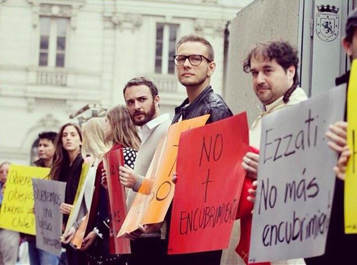 """Protesta contra el """"Marcial Maciel de Chile"""". Foto: Juan Carlos Cruz Chellew, especial para SinEmbargo"""
