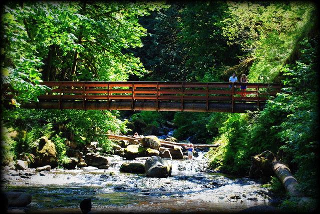 at Triple Falls - Columbia River Gorge