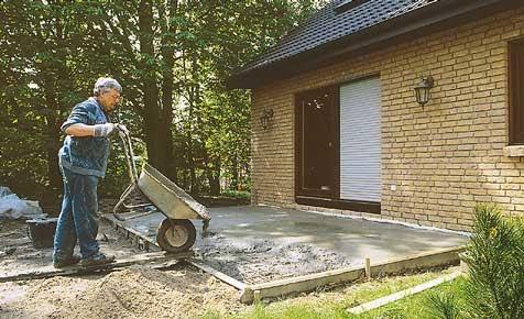 Hochwertige baustoffe mischungsverhaltnis beim betonieren - Gartenmauer ohne fundament ...