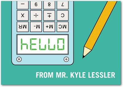 Hello Calculator Card from Tiny Prints