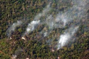 Los puntos de calor son rastreados por el sistema vía satélite que recorre el planeta y configura en el mapa la información respectiva, indicó en un comunicado la Autoridad Nacional del Ambiente (ANAM) de Panamá. EFE/Archivo