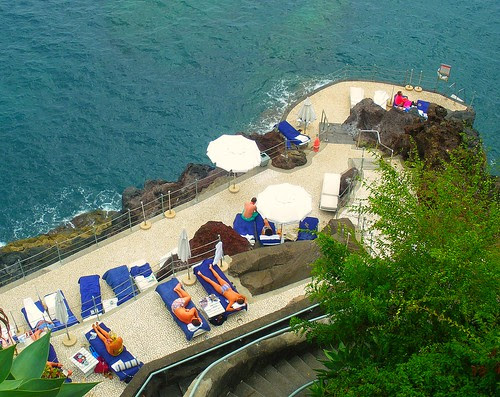 The Atlantic Ocean Terrace @ The Reid's Palace Hotel in Funchal, Madeira, Portugal - Spectacular beside the ocean! September 2009! Enjoy the views! by UggBoy♥UggGirl [ PHOTO // WORLD // TRAVEL ]
