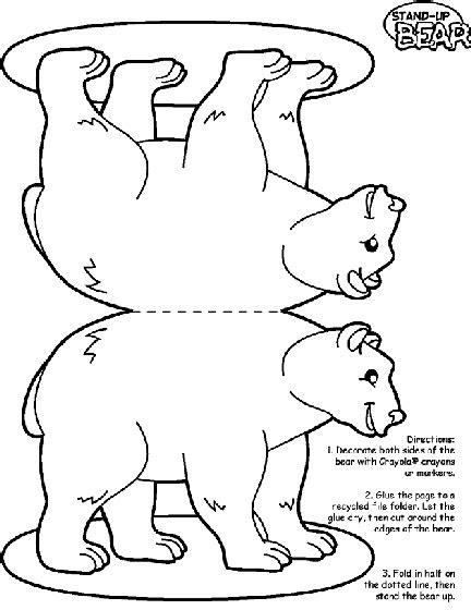 bear coloring page homeschooling polar bear color