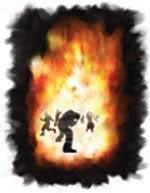 A mennyből kijövő tűz lesújt a gonoszokra és elpusztítja őket mindenestől, mind testüket, mind lelküket.