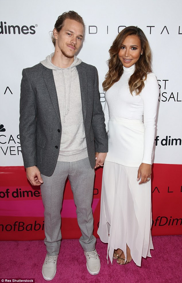 Proud parents: The Glee alum was joined at the March of Dimes Celebration of Babies by her hoodie-clad husband of 17 months, Ryan Dorsey