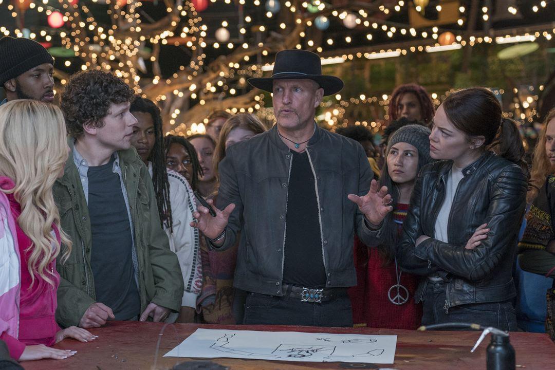 Retour à Zombieland : Photo Emma Stone, Jesse Eisenberg, Woody Harrelson