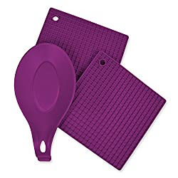 Silicone hot pads, and spoon rest