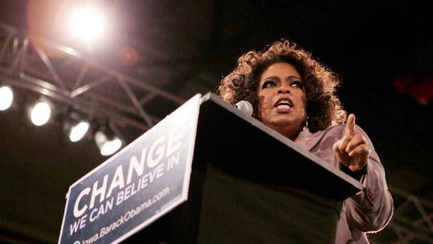 Oprah Winfrey, en 2007, durante un mitin en apoyo a la candidatura de Barack Obama