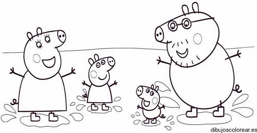 Dibujo De Una Familia De Cerditos