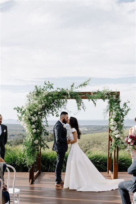 Chris & Belle's Hinterland Wedding at Horizon   Ceremony