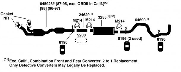 1995 Ford F150 Exhaust System Diagram