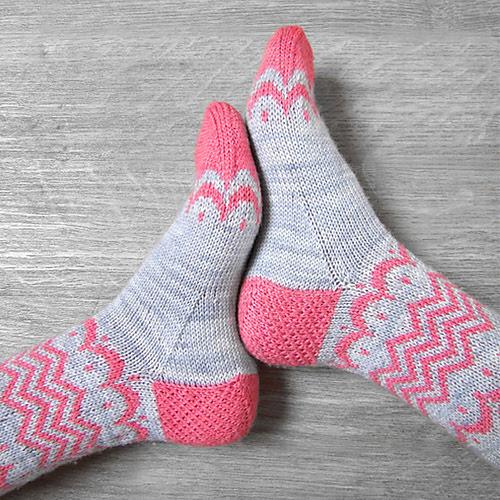 Patron de tricot bas Luna socks par Josephine & the seeds
