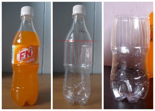 F&N plastic bottle transforming into a vase 2