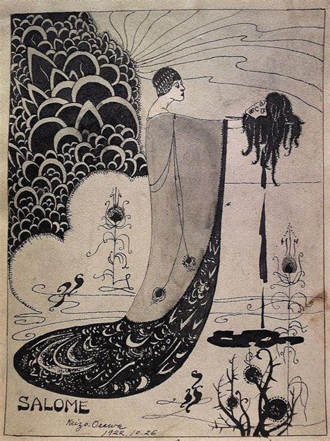 sale antique art nouveau ink drawing japanese listed