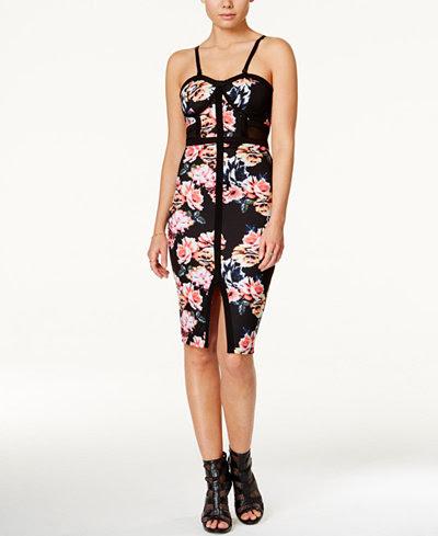 Chart quiz Round Neck Print Long Sleeve Bodycon Dresses pattern companies boutique instagram