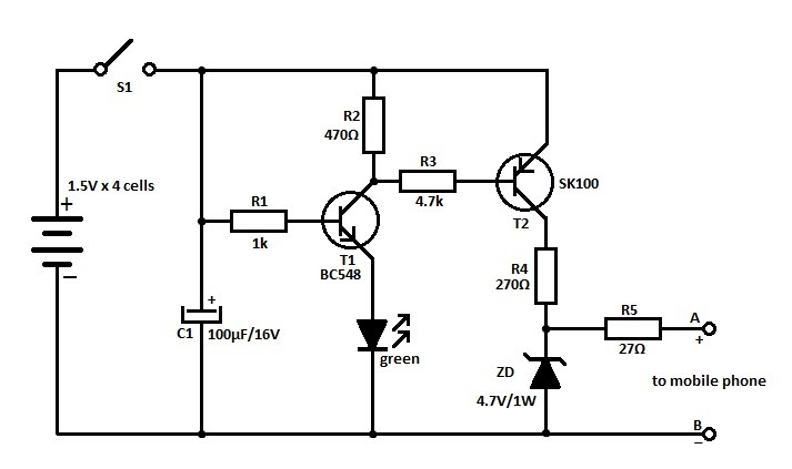 nokia mobile battery charger circuit diagram