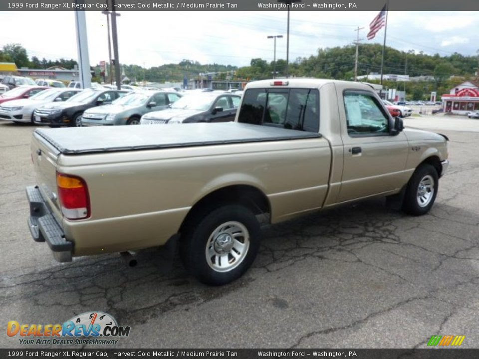 1999 Ford Ranger XL Regular Cab Harvest Gold Metallic / Medium Prairie ...