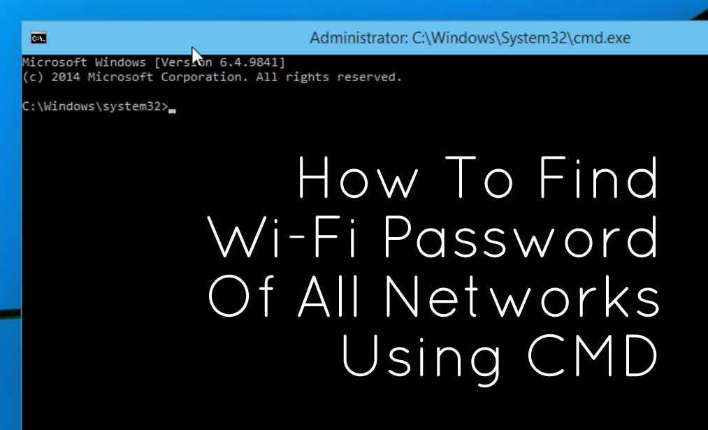 wifi password in cmd