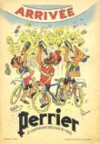 Pub pour Perrier - Les Pieds Nickelés à l'arrivée du Tour de France