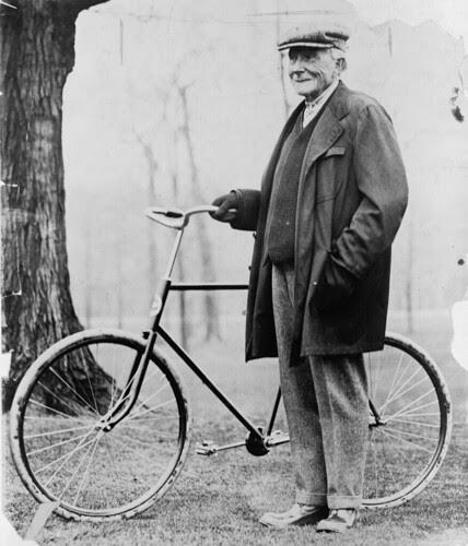 John D Rockefeller with Bike