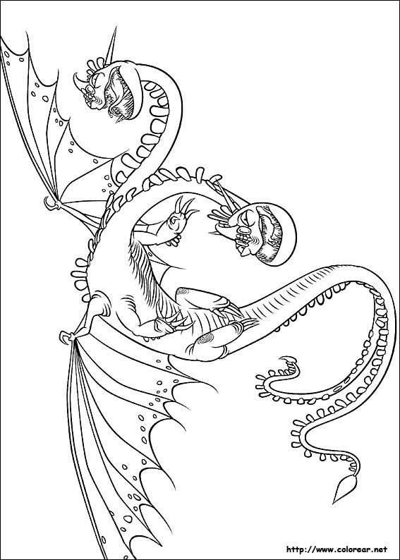 Dibujos De Como Entrenar A Tu Dragon Para Colorear En Colorear Net