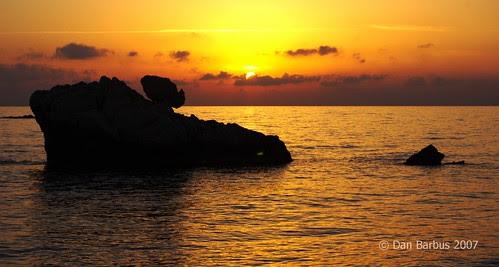 Sunset at Aphrodyte's Rocks