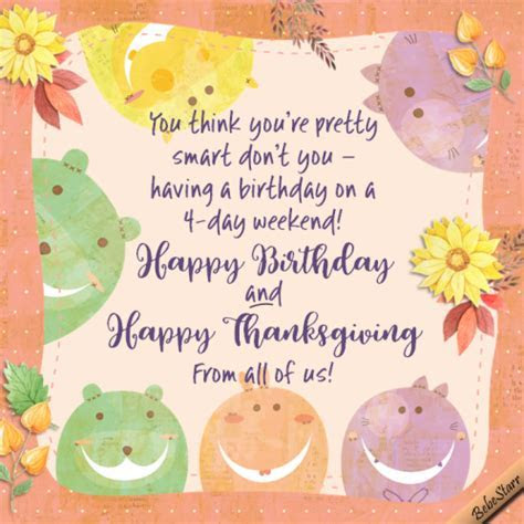 Happy Thanksgiving Birthday. Free Specials eCards