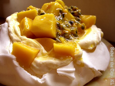 Mango and Passion Fruit Pavlova