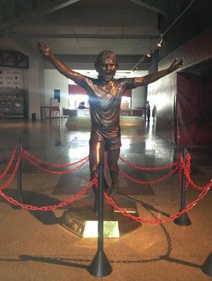 Zico estatua flamengo (Foto: Cahe Mota)