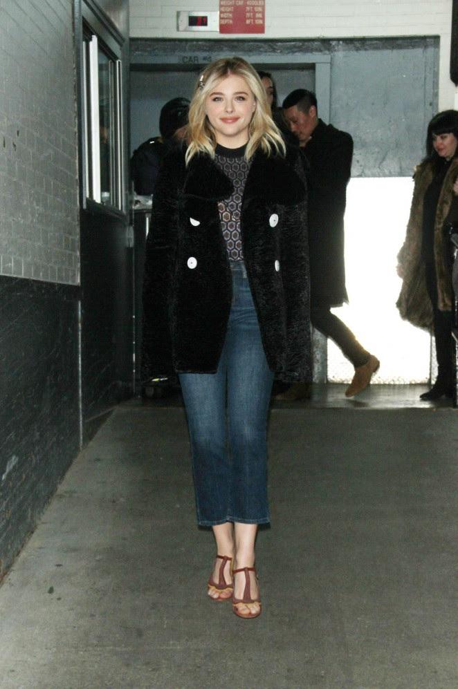 Chloe Moretz Leggy in Short Dress -10