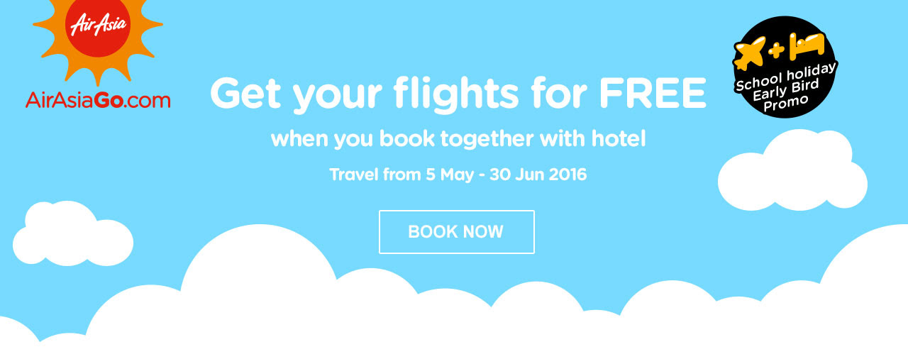 Get your Flight for FREE when book together with Hotel!