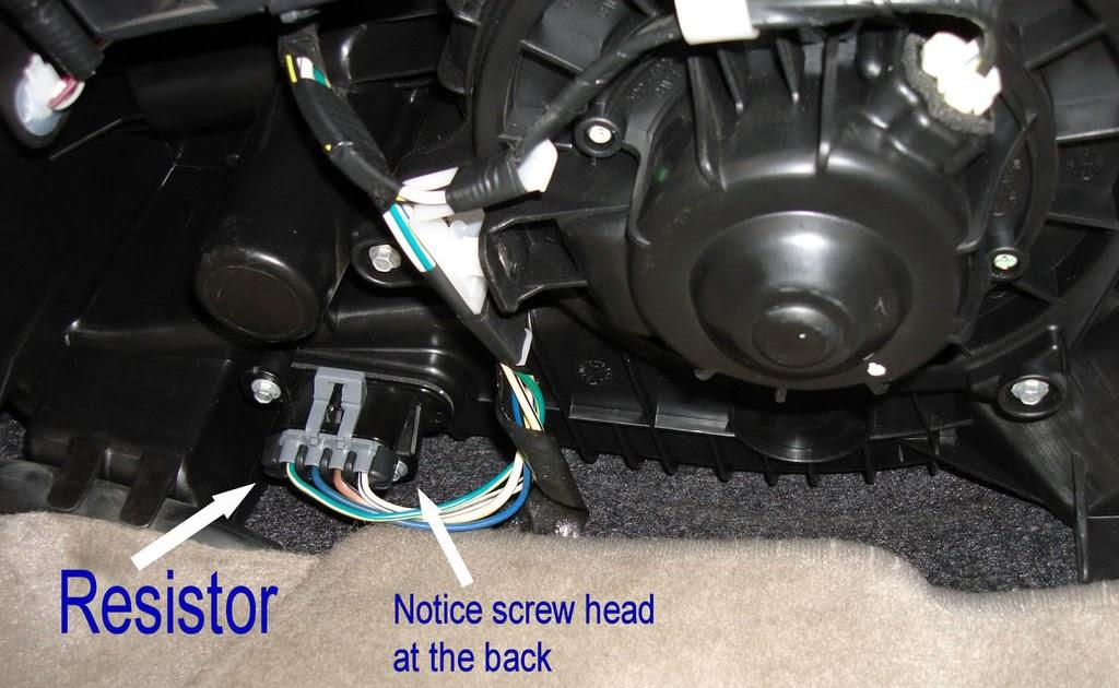 2005 Chevy Colorado Blower Motor Resistor Replacement