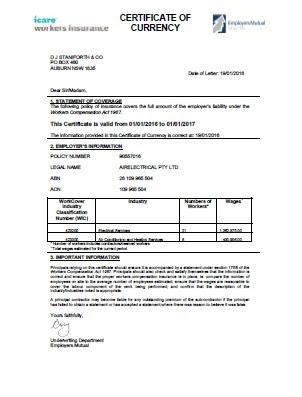 DJ Staniforth | Insurance Certificates
